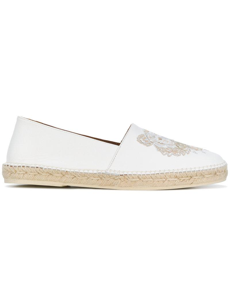 bea6402f Lyst - KENZO Tiger Embroidered Espadrilles in White for Men