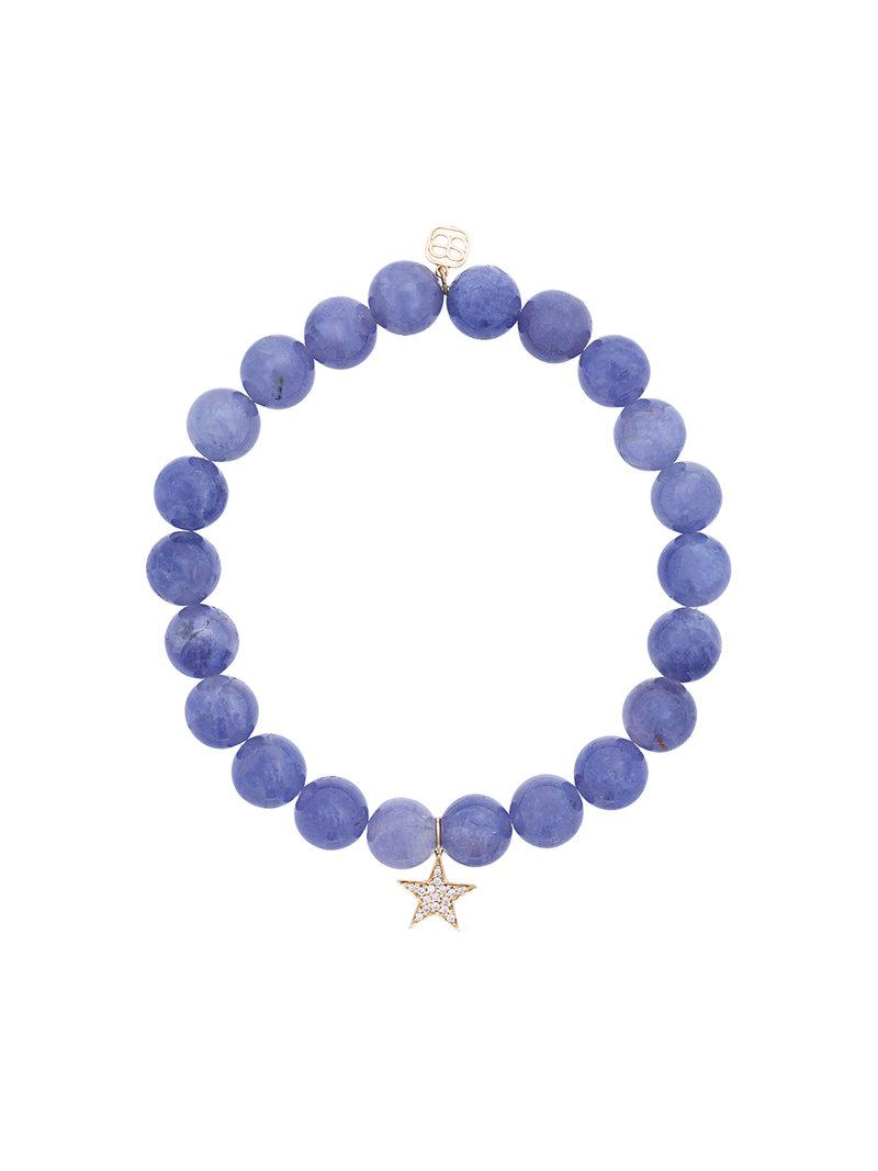 Monan beaded diamond charm bracelet - Green RDAy1V0