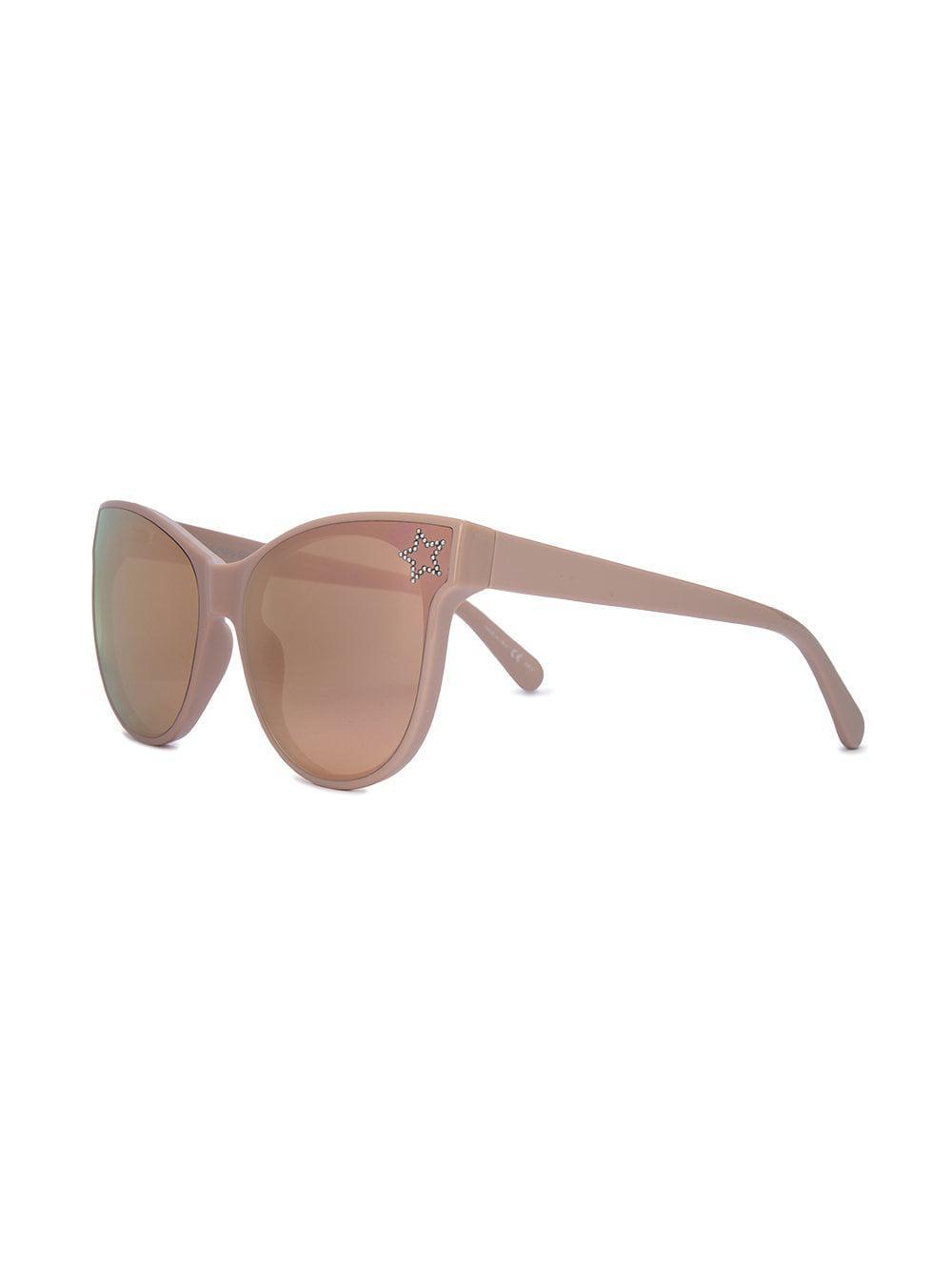 2523a46fe415 Stella McCartney Pink Star Embellished Cat Eye Sunglasses in Pink - Lyst