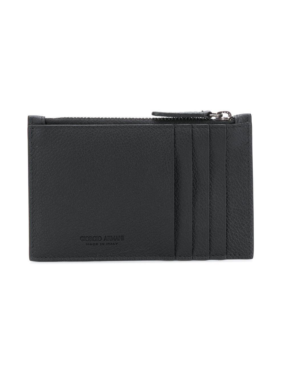4fdb851fe9 Lyst - Giorgio Armani Slimline Card Holder in Black for Men
