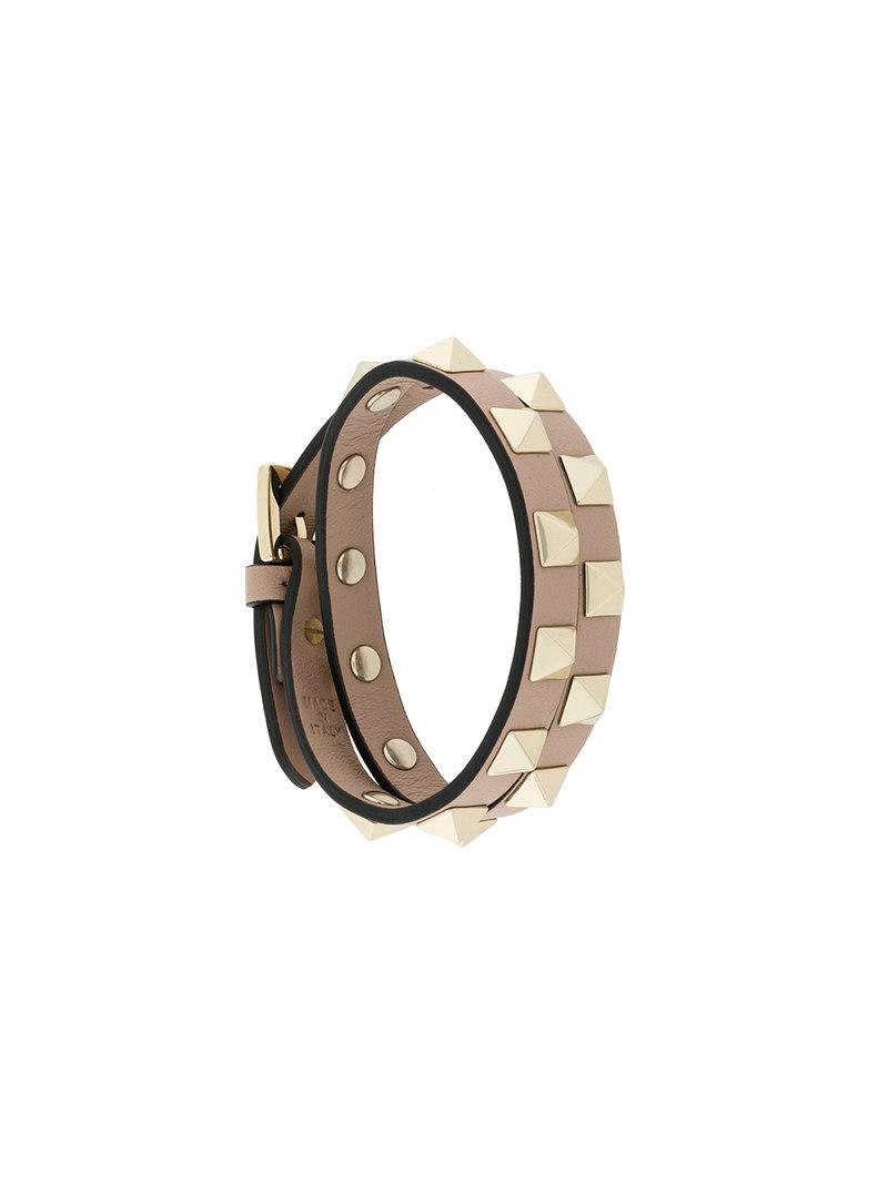 Valentino Garavani Rockstud Rolling bracelet - Nude & Neutrals Valentino jEJyplMurV