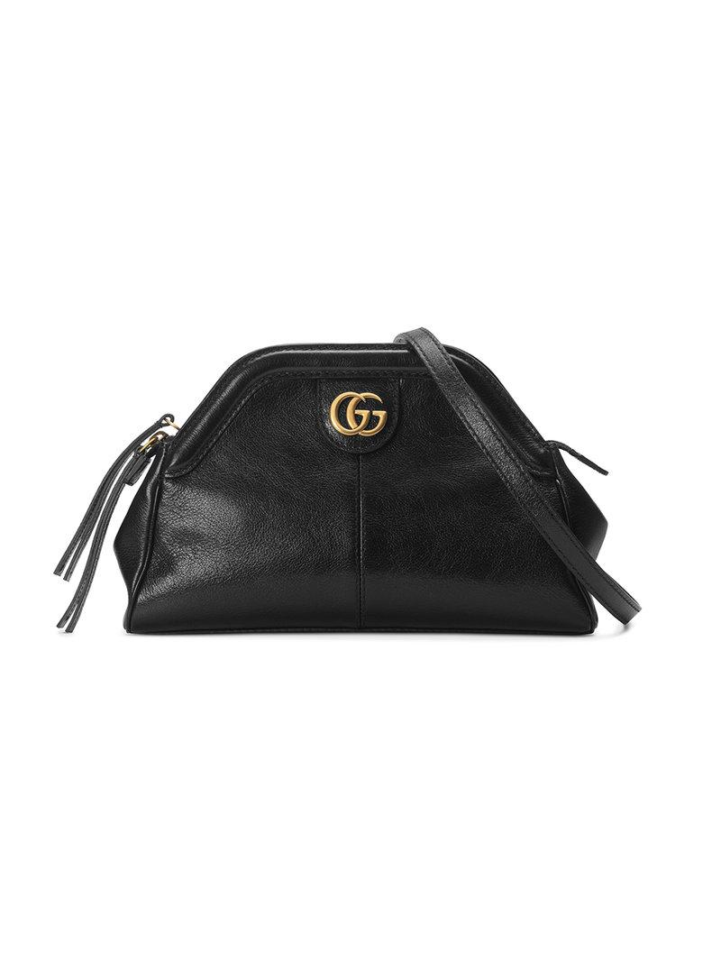 95d62188884c Gucci Linea Small Leather Shoulder Bag in Black - Lyst