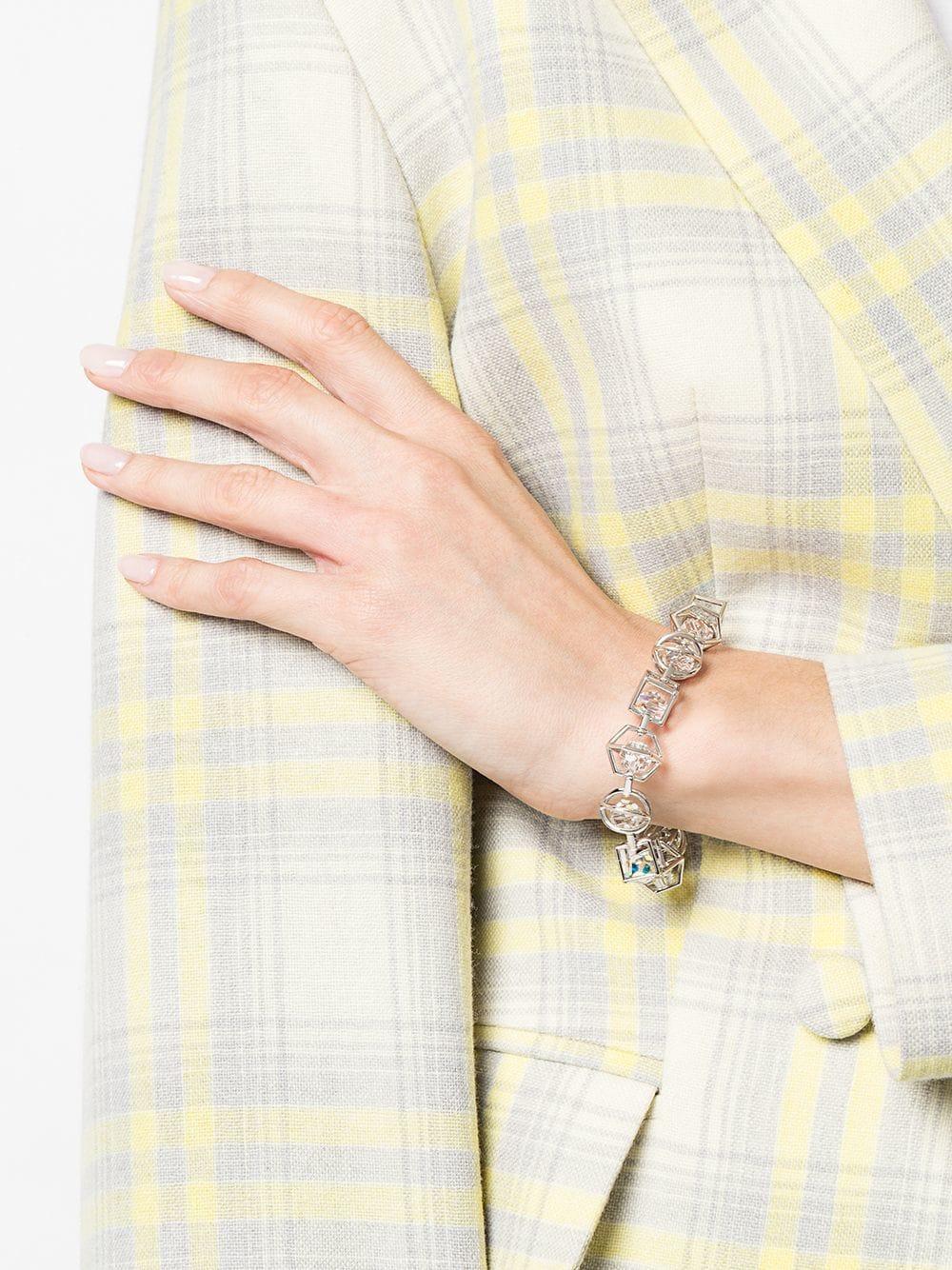 80665c2ad308e Lyst - Atelier Swarovski Nostalgia Bracelet By Mary Katrantzou in Metallic