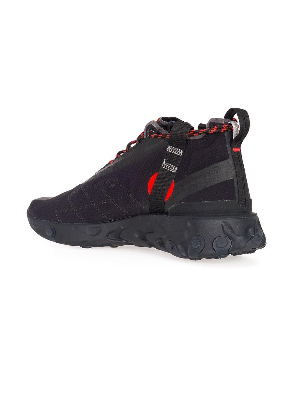 reputable site 7f467 1656e Nike Black And Red State Emergency React Sneakers in Black for Men ...
