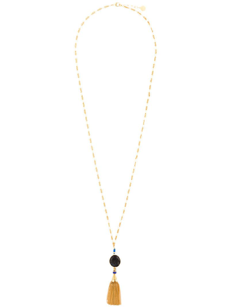 Gas Bijoux beaded tassel necklace - Metallic bXjESIHnXV