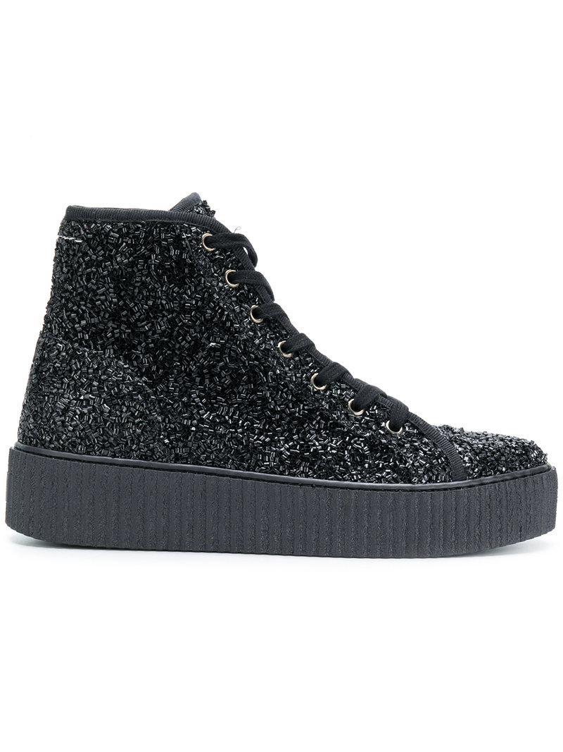 Curly hi-top sneakers - Black Maison Martin Margiela cOPiQxSeC
