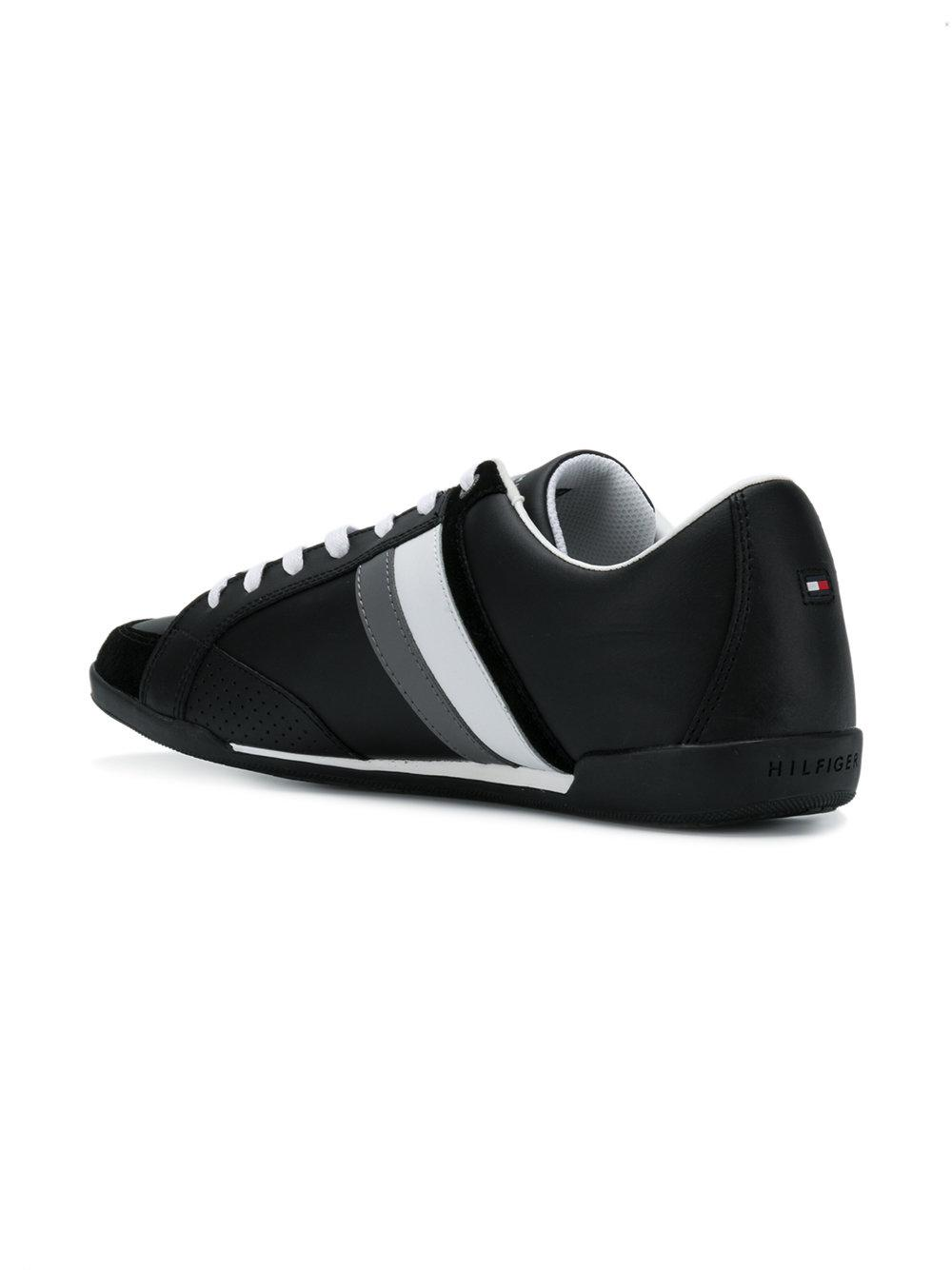 detailed look d4d5c 0a1b5 tommy-hilfiger-Black-Side-Striped-Lace-up-Sneakers.jpeg
