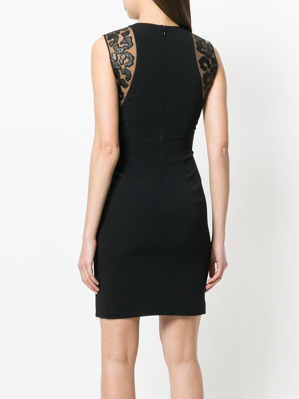 Stella McCartney sheer contrast fitted dress Cheap Sale Clearance Store Clearance Professional Discount Visit New Buy Cheap Buy Outlet Amazon xvwJLRw