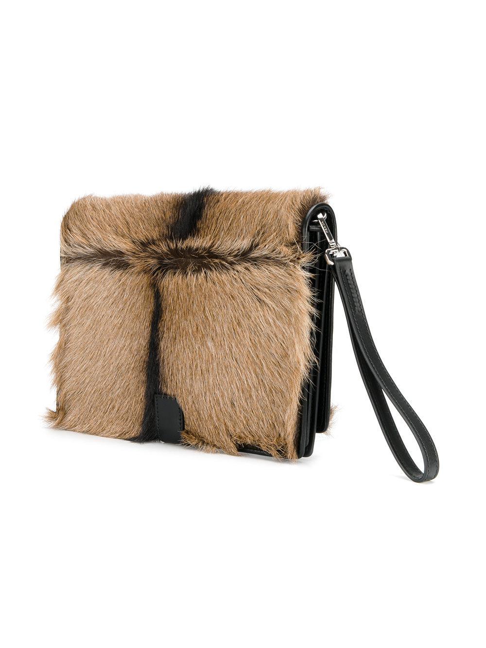 fe34a2e7c2f339 Prada Fur Clutch Bag for Men - Lyst