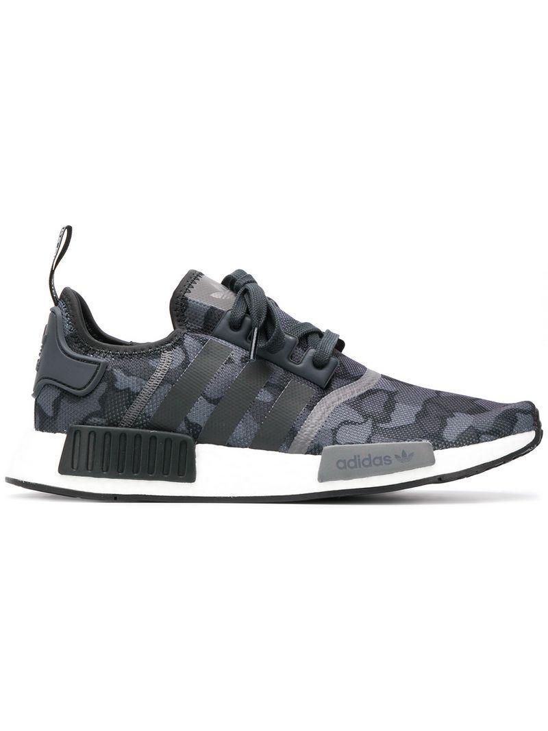e53c0d65d Adidas - Gray Originals Nmd R1 Boost Sneakers for Men - Lyst. View  fullscreen