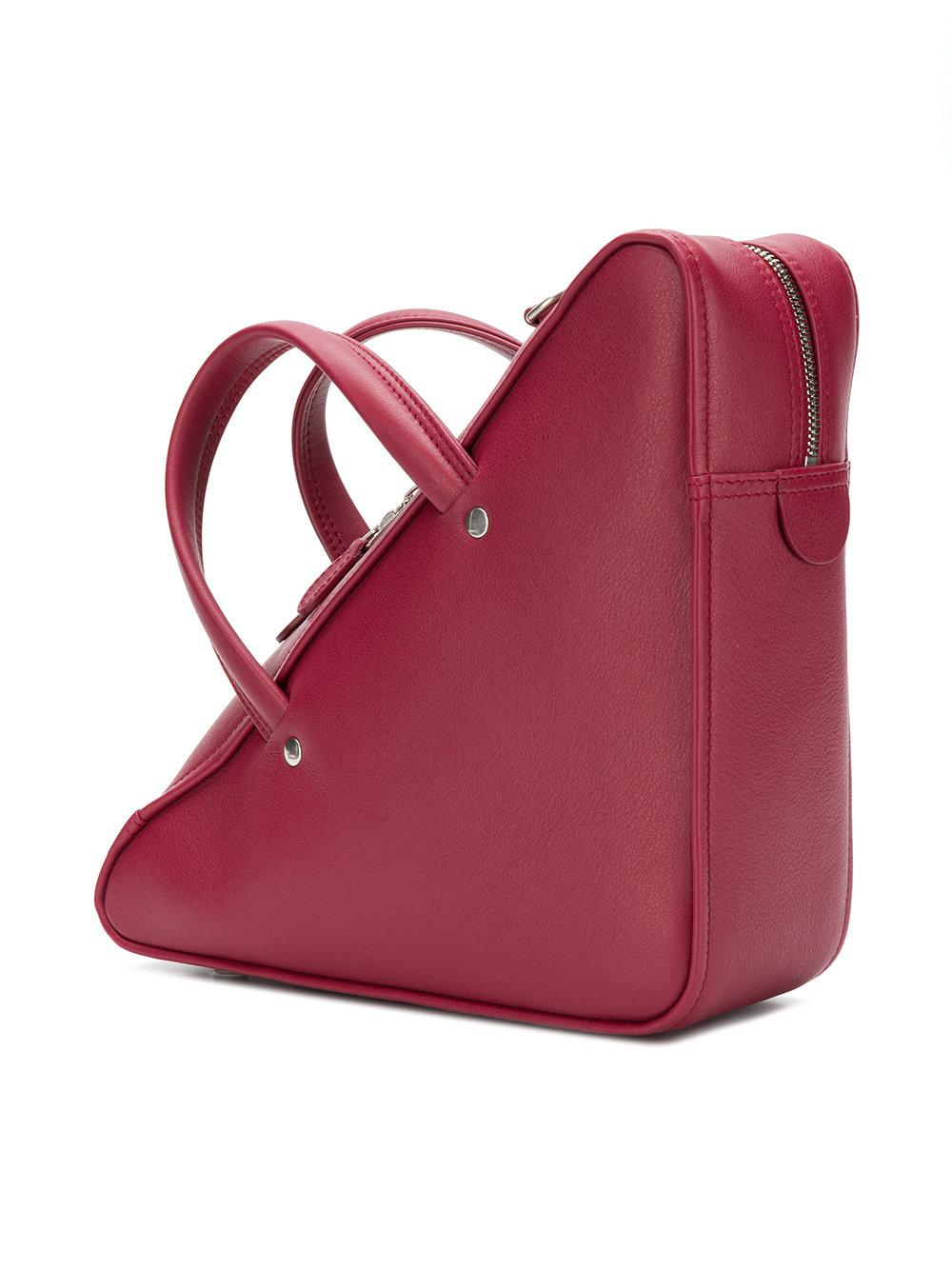 Triangle Duffle Coloris Sac S À En Balenciaga Lyst Rouge Main pItCxg