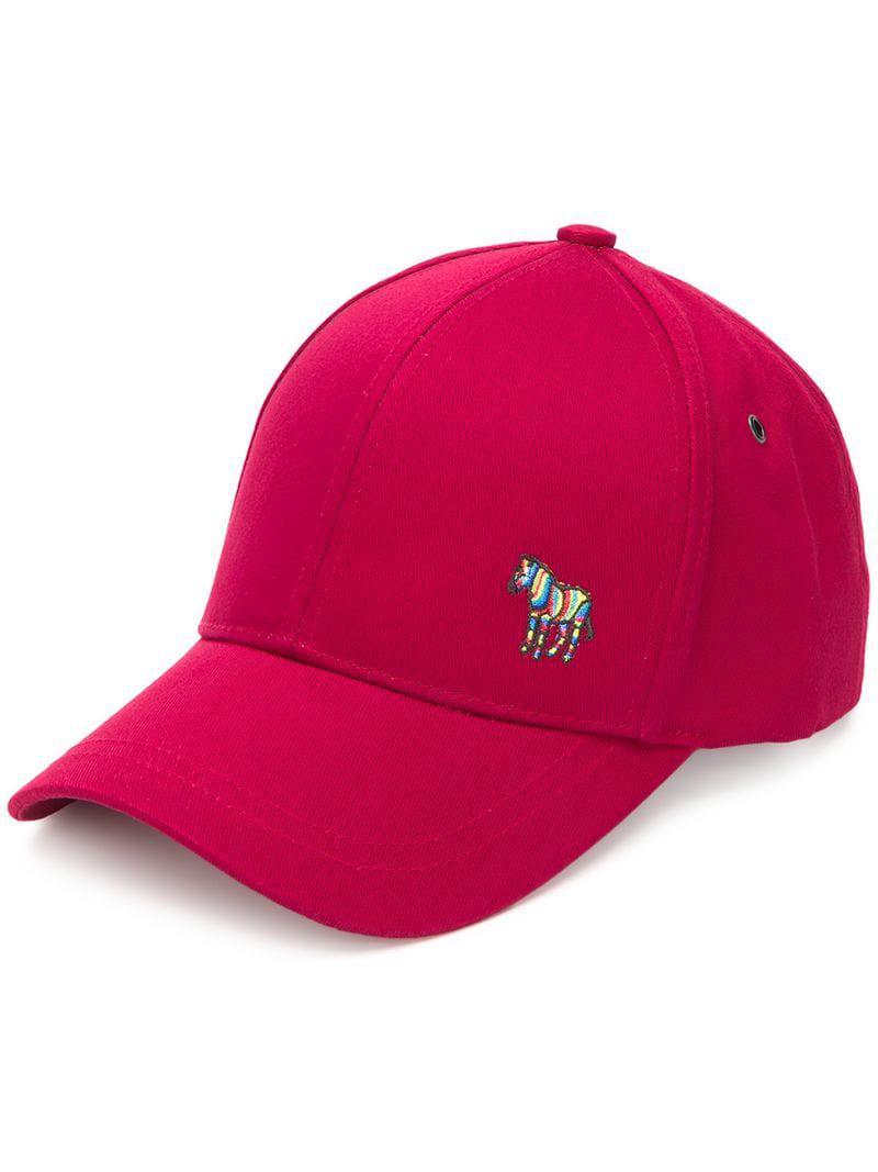 51797691d52 Ps By Paul Smith Zebra Motif Baseball Cap in Red for Men - Lyst