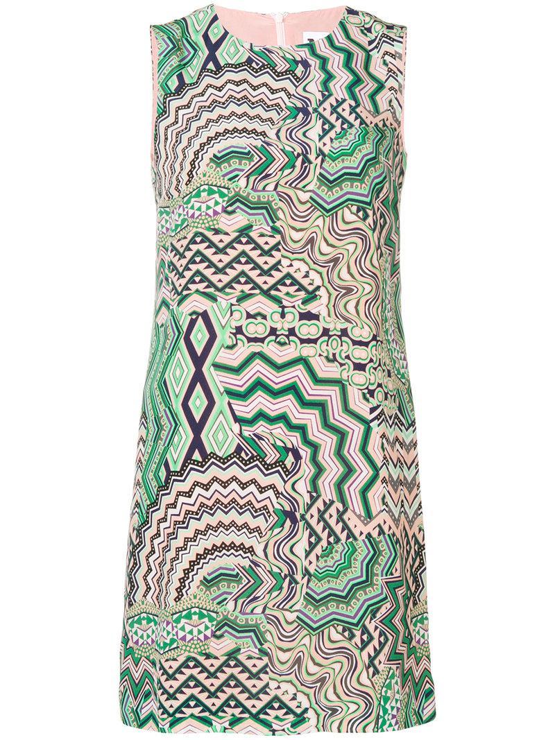 Discount Codes Really Cheap geometric print shift dress - Green M Missoni Enjoy Online z9fZ8
