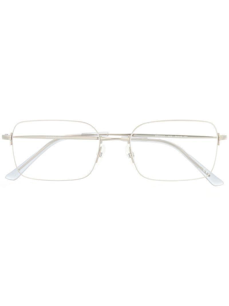 8b2a234848d Lyst - Balenciaga Square-frame Glasses in Metallic for Men