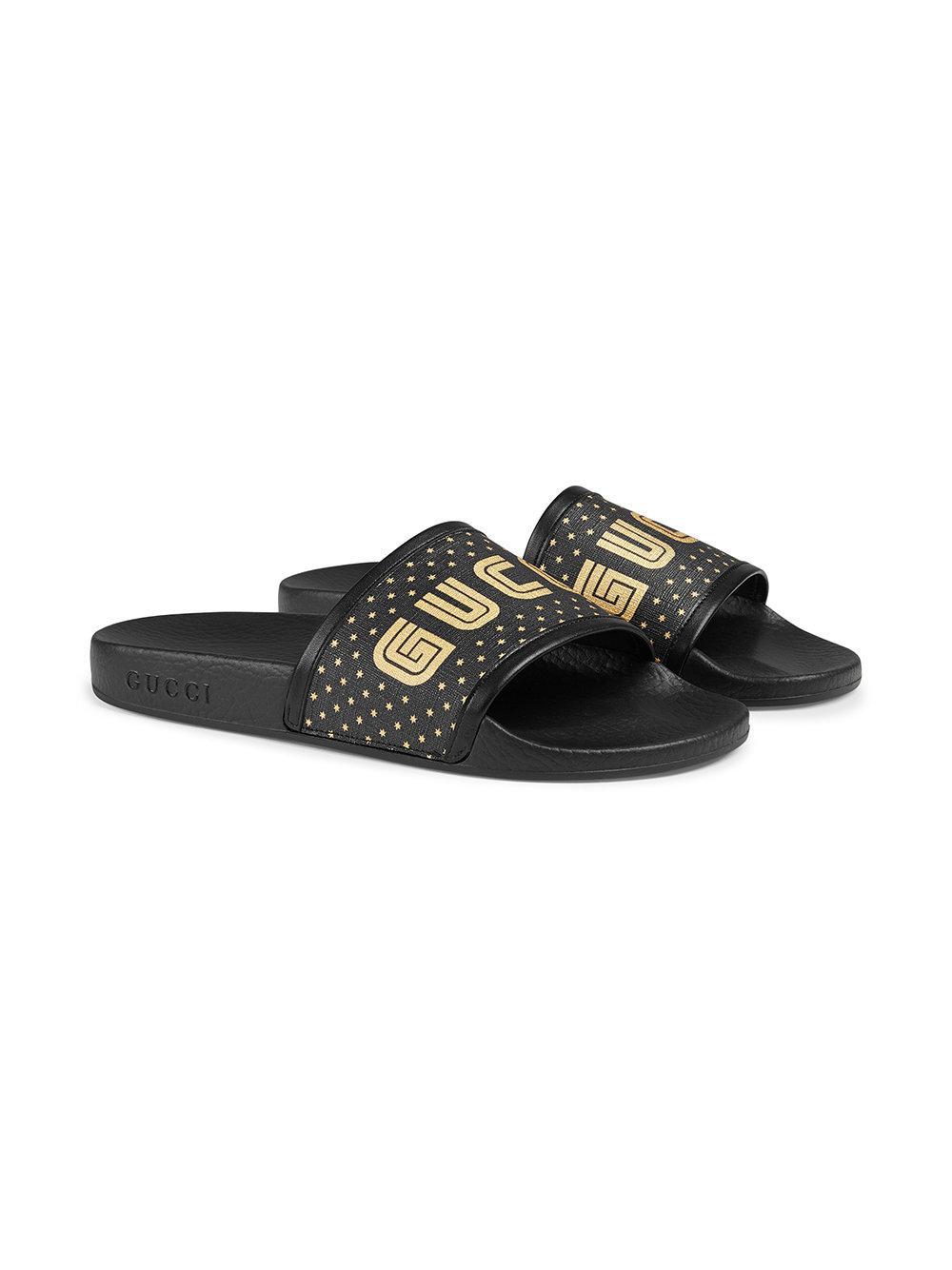 85cbddd41905 Gucci Guccy Slide in Black - Lyst