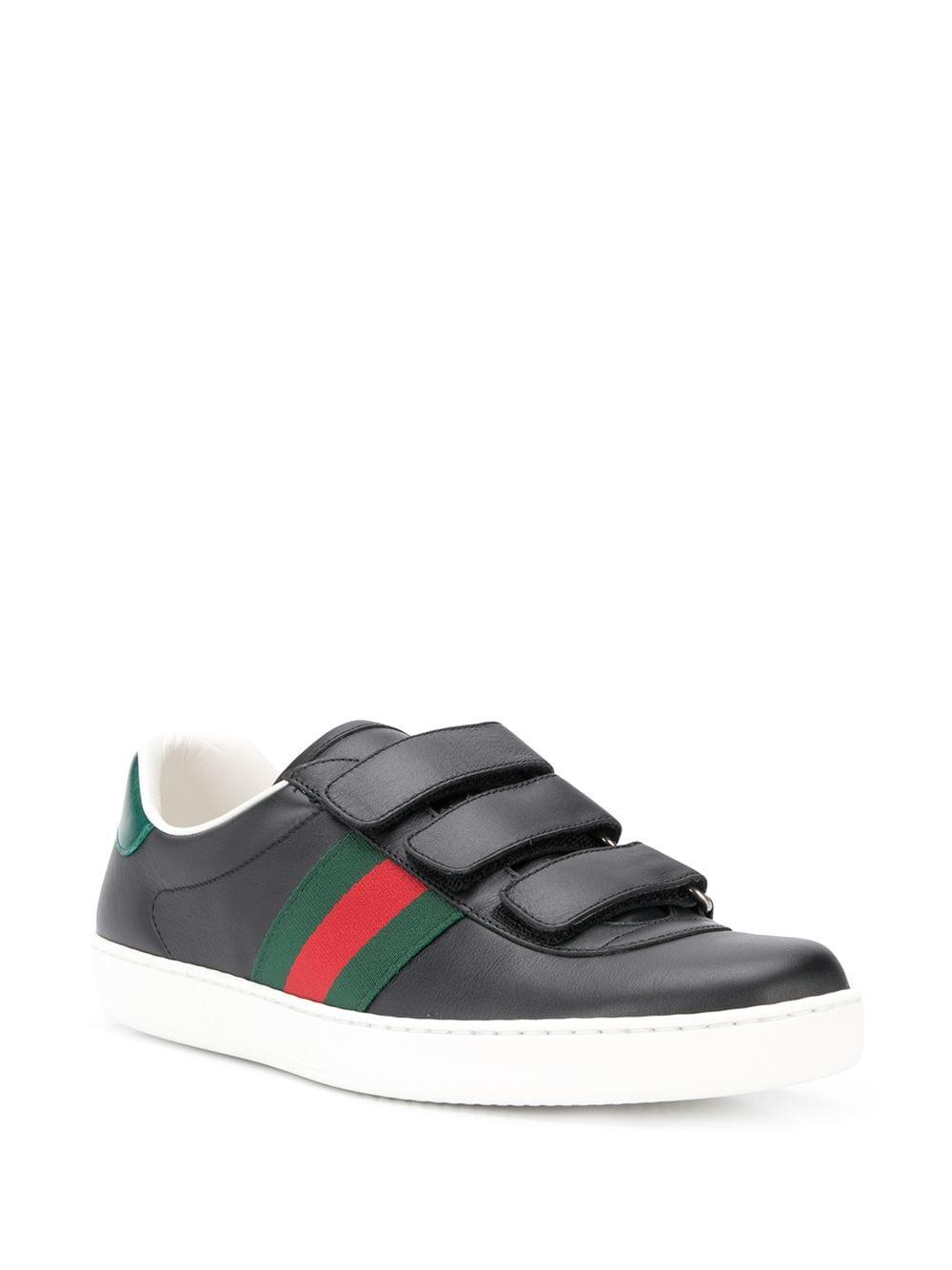 8c7b502556d Gucci New Ace Sneakers in Black for Men - Lyst