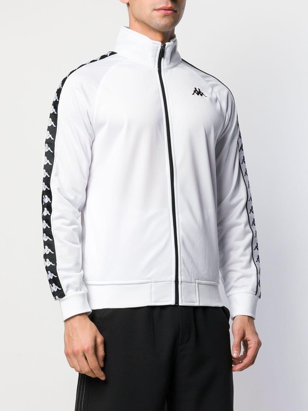 122c7246 Kappa Logo Tape Sport Jacket in White for Men - Lyst