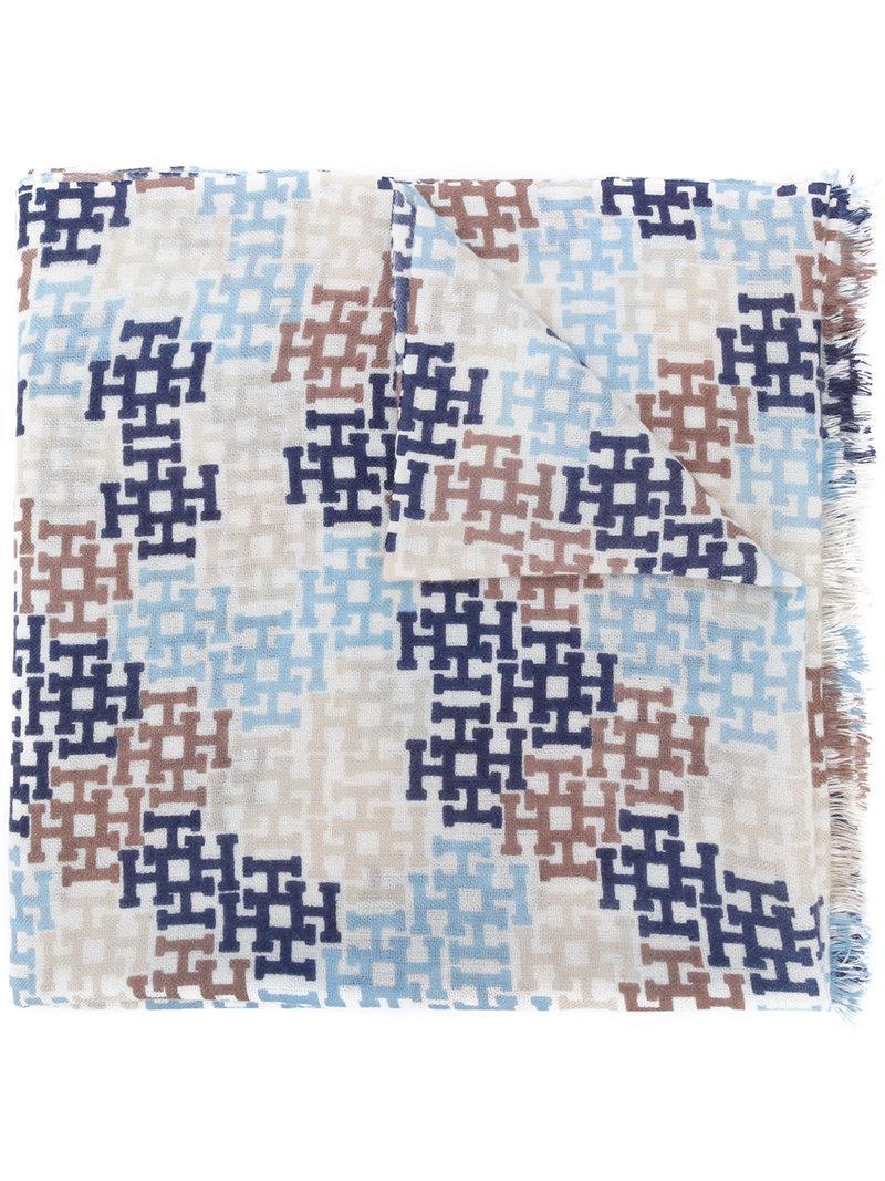 woven monogram scarf - Multicolour Hemisphere znuyPxD4o