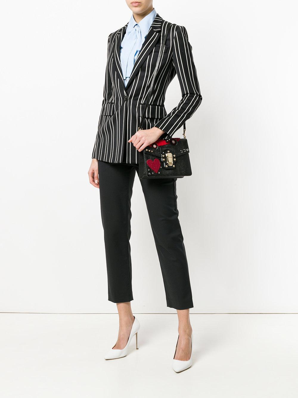 Lyst Dolce con cuentas Lucia negro Bag Parche Gabbana 8OOqp0