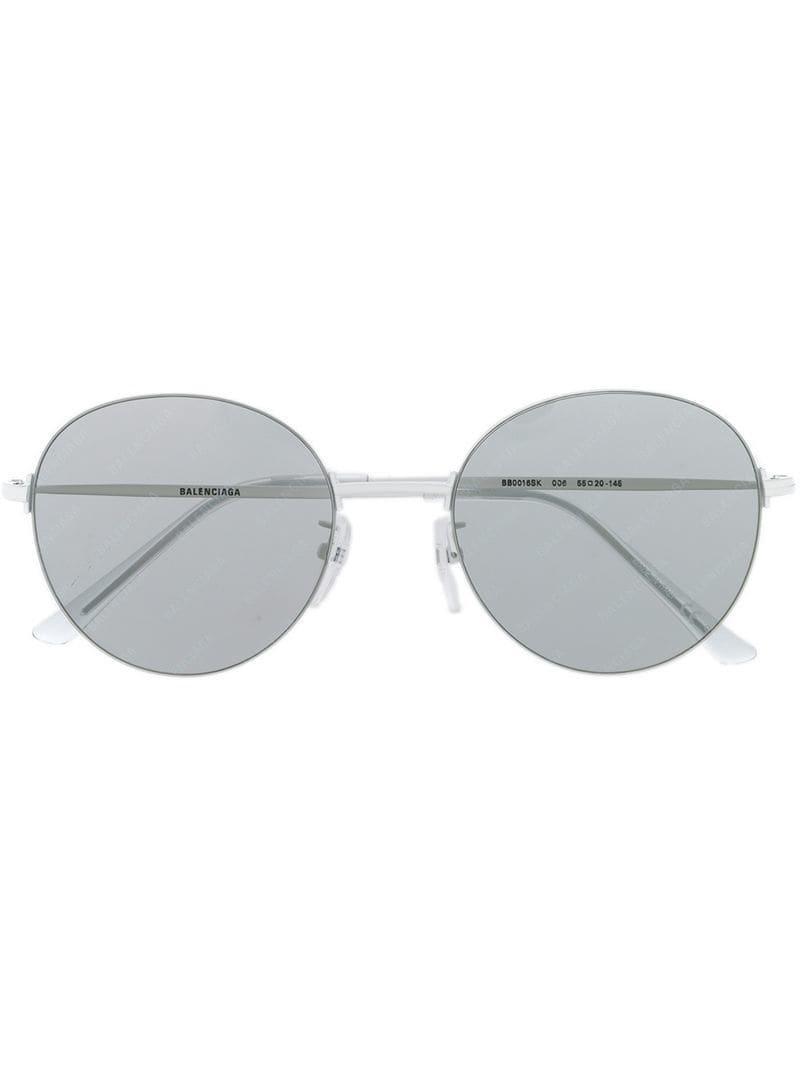 fd68efbacbd Balenciaga Round Frame Sunglasses in White for Men - Lyst