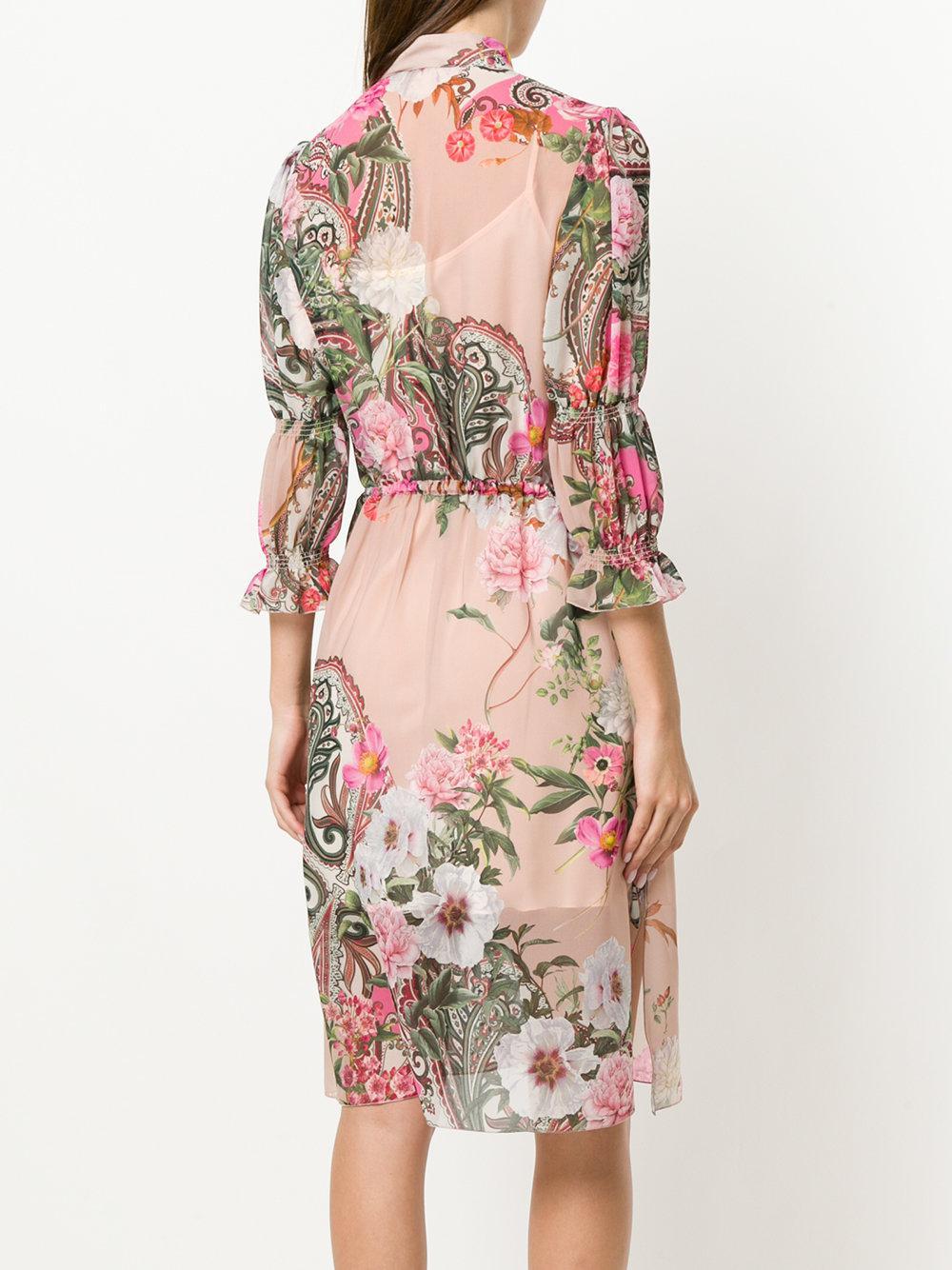 Pink floral dress Blugirl yQKc6