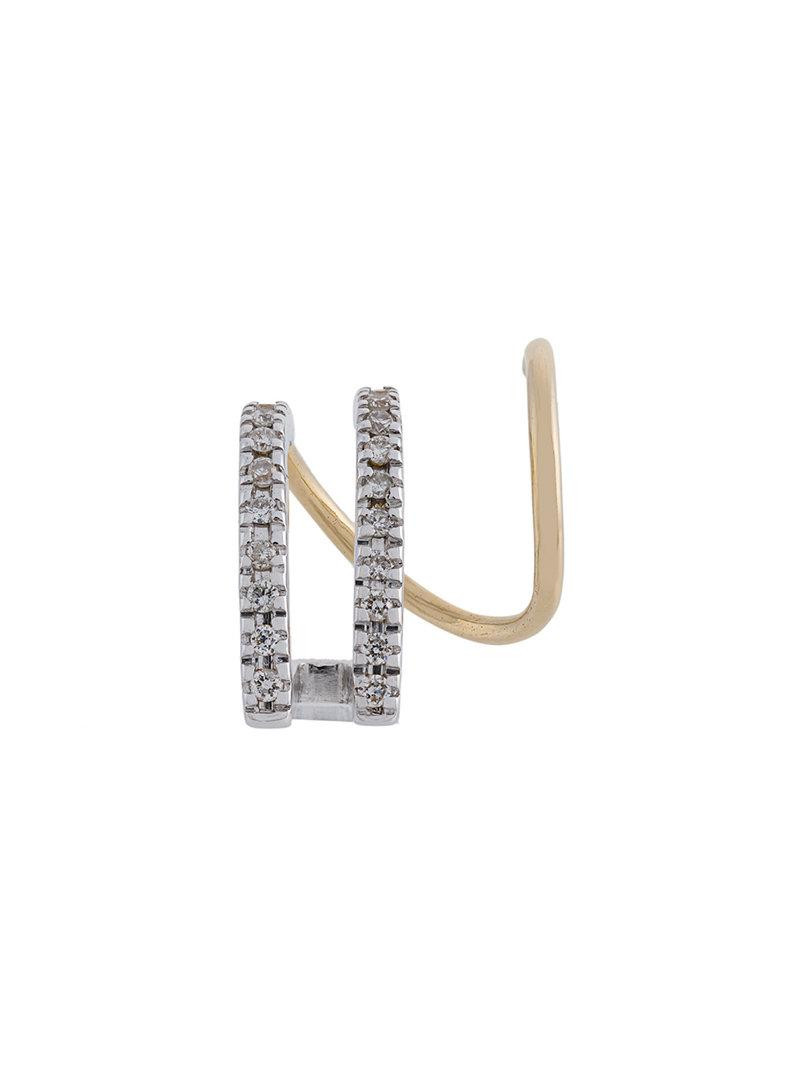 Maria Black 14kt gold Bess Blanc diamond earrings (pair) - Metallic lSYNeQI