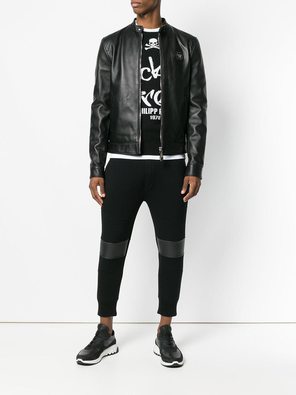 dd1595546e Philipp Plein Original Moto Jacket in Black for Men - Lyst