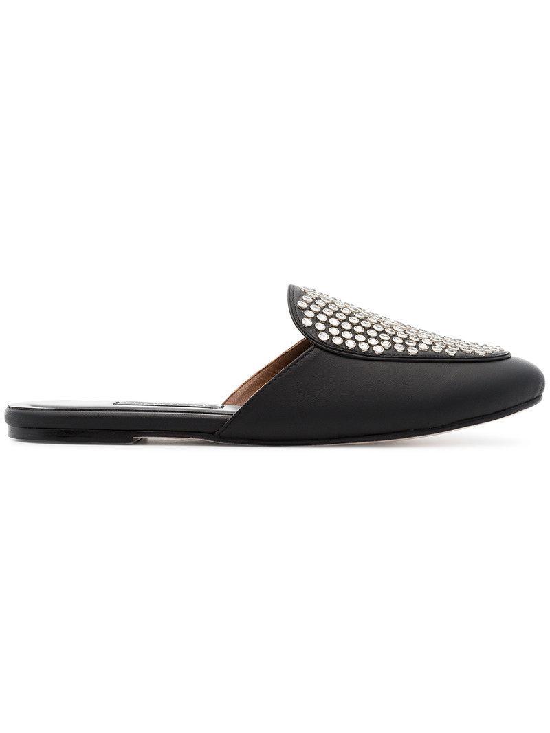 NEWBARK Liza studded leather loafers dETUqJe