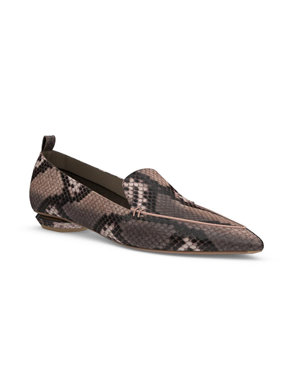 outlet shop for cheap sale wholesale price Nicholas Kirkwood Leather Python-Trimmed Loafers ebay cheap price 7syDcTZM