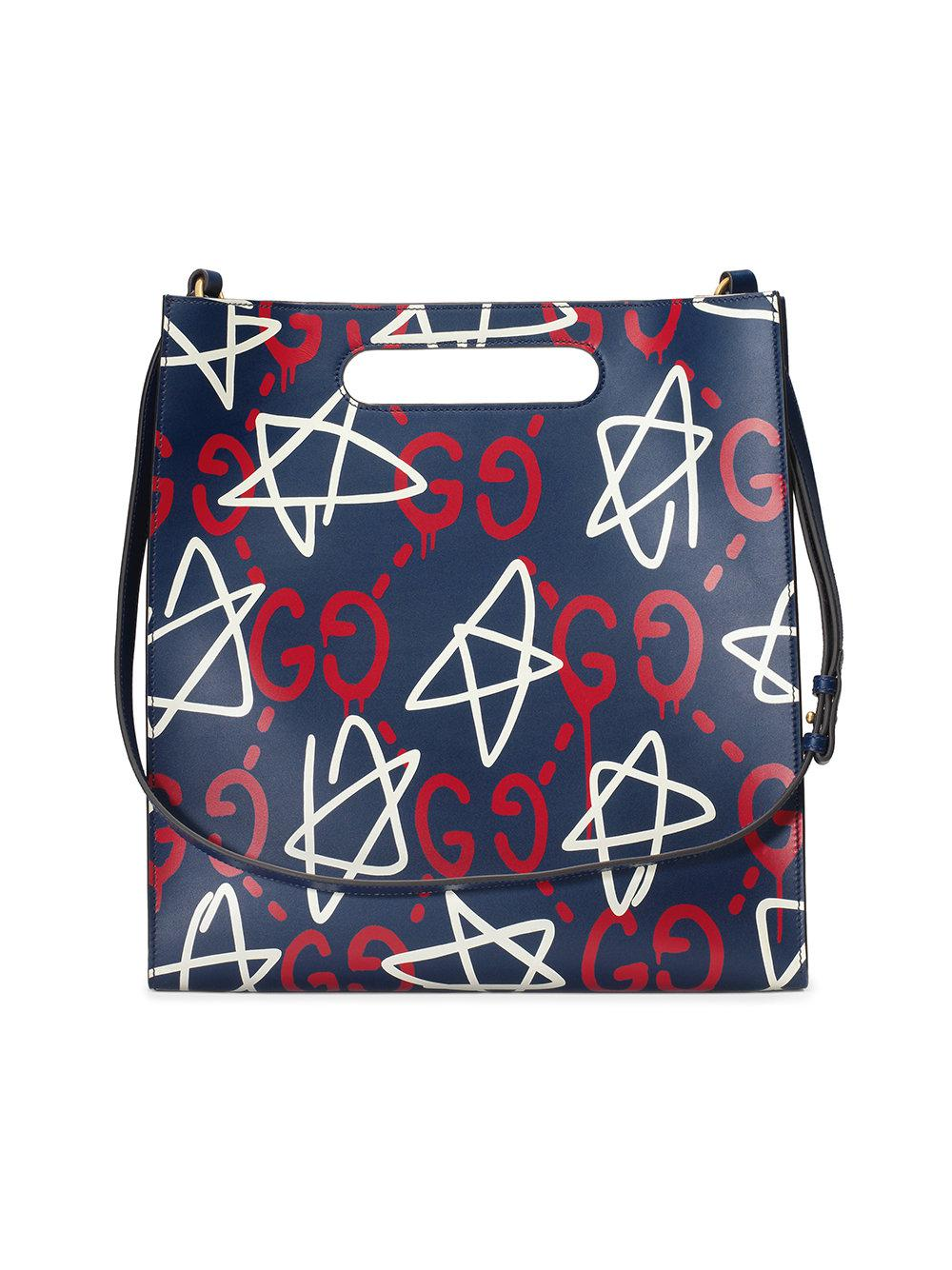 b842075372f Gucci - Blue Ghost Leather Tote for Men - Lyst. View fullscreen