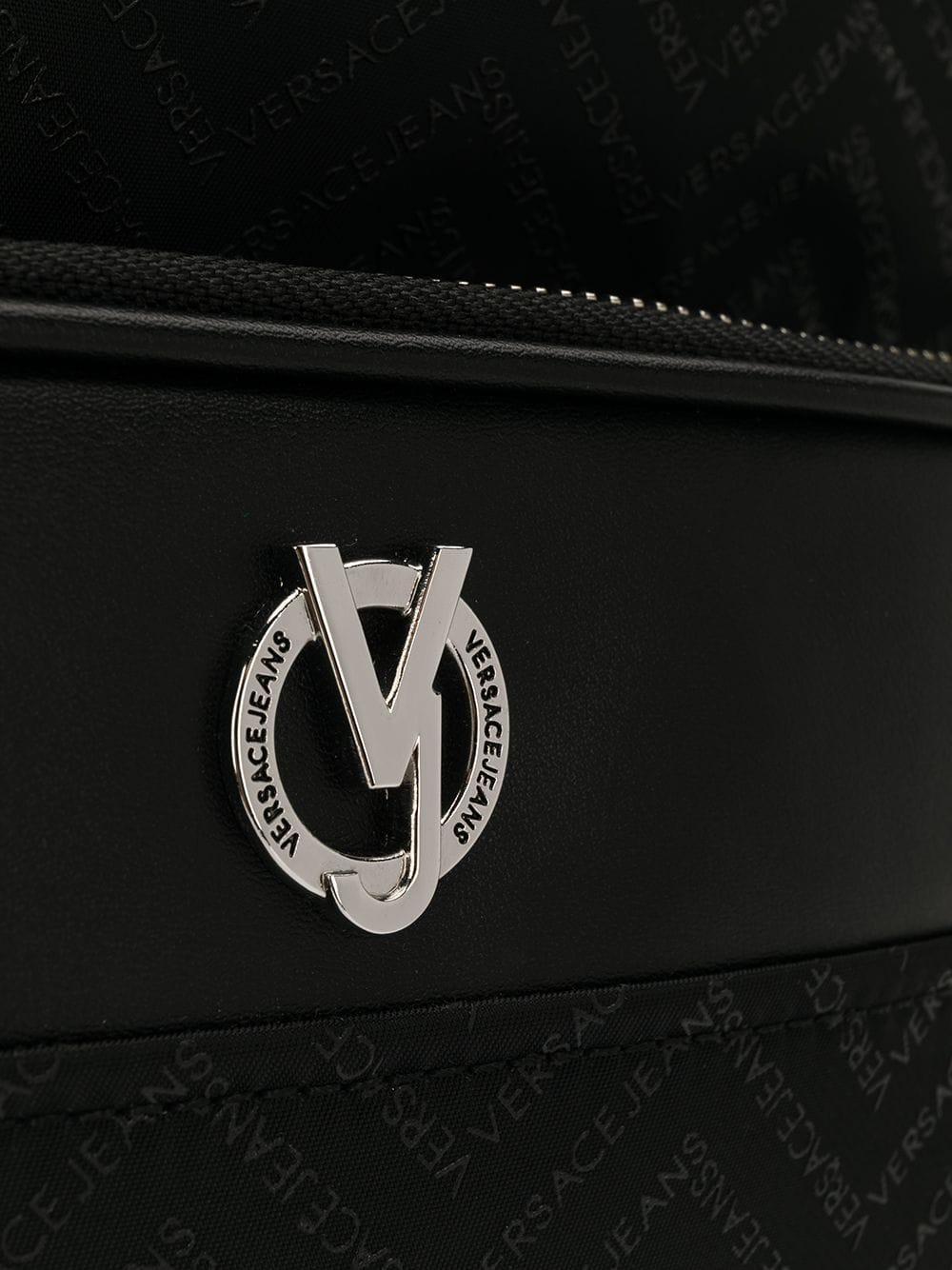 b04a562b2536 Versace Jeans Zig-zag Logo Backpack in Black for Men - Lyst