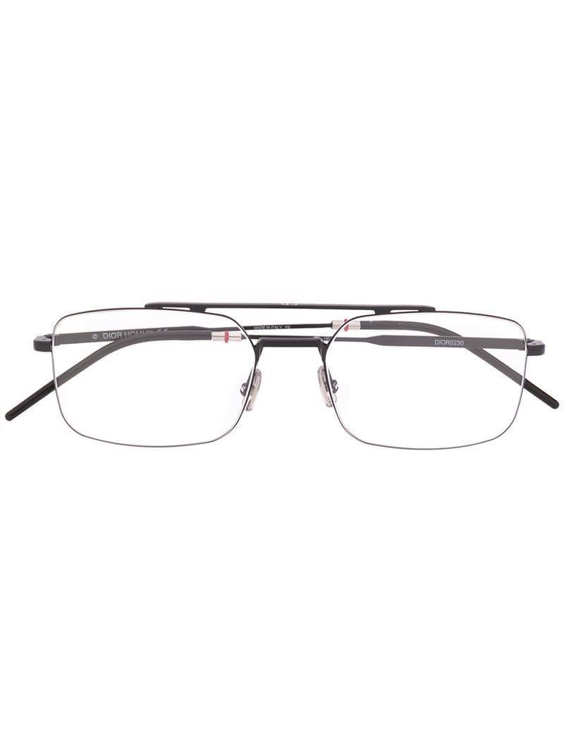 e08bab011c Lyst - Dior Square Glasses in Black