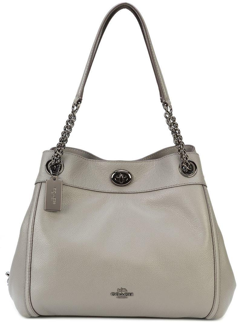 8ee7df5e4c3e0 COACH Edie Shoulder Bag in Gray - Lyst