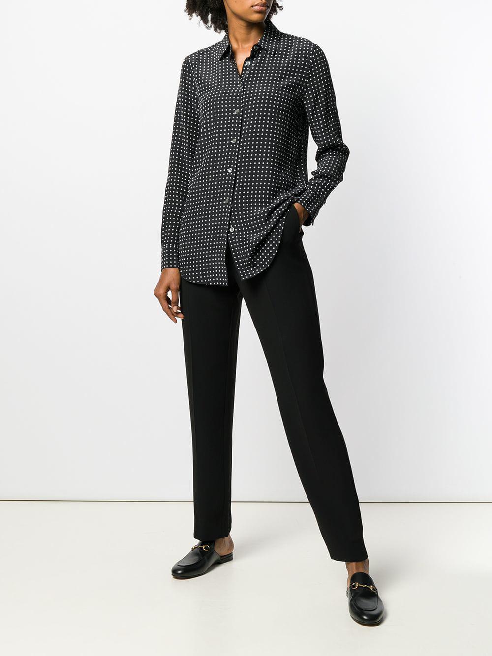 bb0295ab0fdff2 Equipment Polka Dot Shirt in Black - Save 40.35087719298246% - Lyst