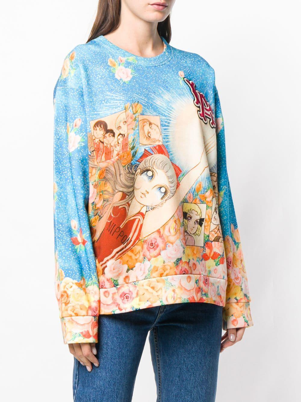 e9b0762f Gucci Sailor Moon Printed Sweatshirt in Blue - Lyst