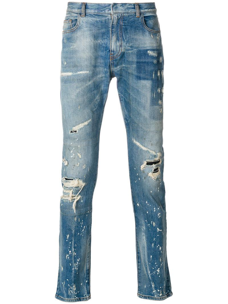 Cheap Best Store To Get paint splatter jeans - Blue Faith Connexion Outlet Locations Online Cheap Price Cheap Countdown Package 0DzErl
