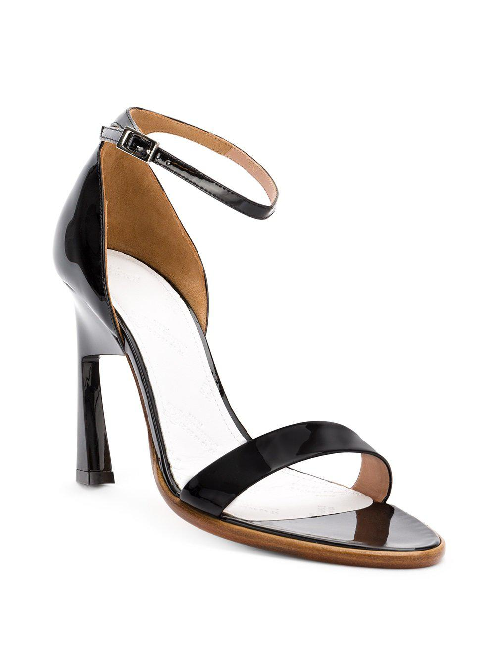 Geometric In Black Heel Margiela Sandals Maison Lyst FqHOx