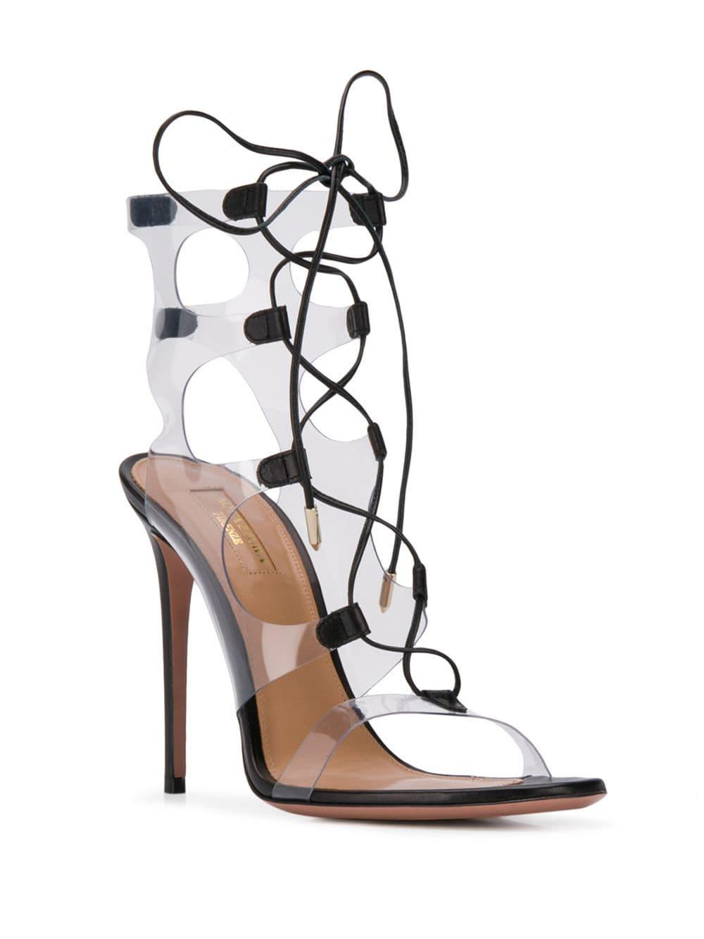 9f358e58f2c Lyst - Aquazzura Milos Sandals in Black