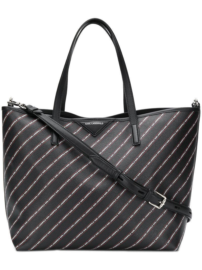 striped logo Weekender bag - Black Karl Lagerfeld UjepFM