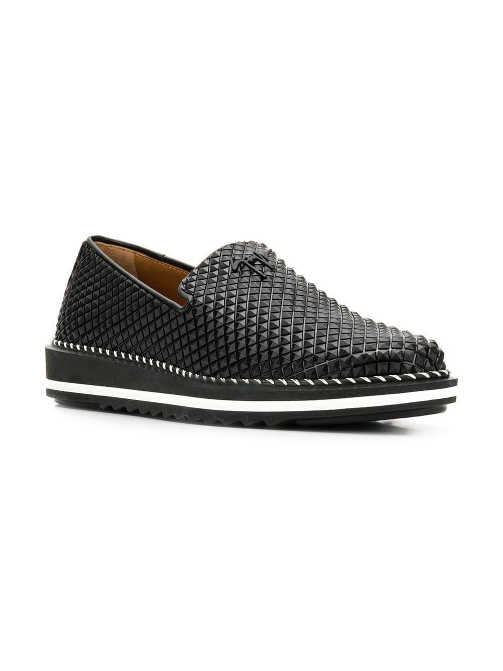5d1f2661d3ea9 Lyst - Giuseppe Zanotti Pyramid Stud Loafers in Black for Men