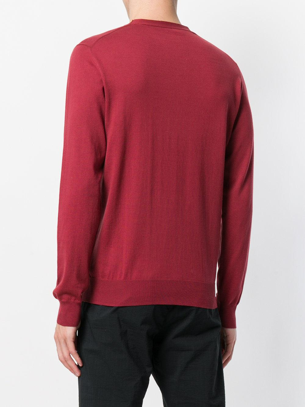 abd9acd043a5c Paolo Pecora - Red Crew Neck Sweater for Men - Lyst. View fullscreen