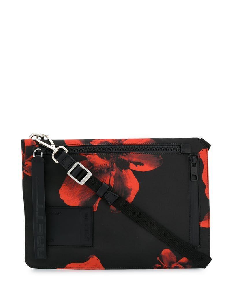 e7fdd31893bba5 Lyst - Neil Barrett Anemone Printed Crossbody Bag in Black