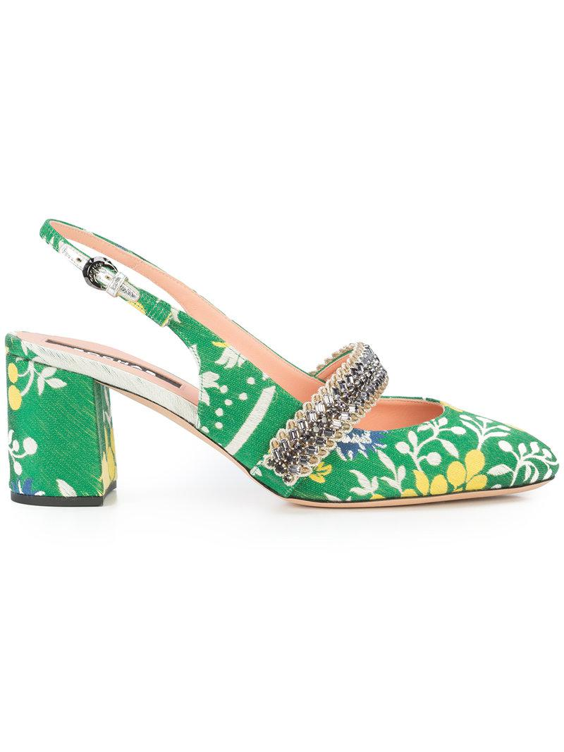 Rochas patterned slingback sandals really sale online amazing price cheap price discount Manchester very cheap sale online online sale online shMUBZsy