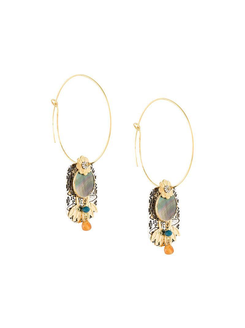 Gas Bijoux Eldorado hoop earrings - Metallic tOTEg