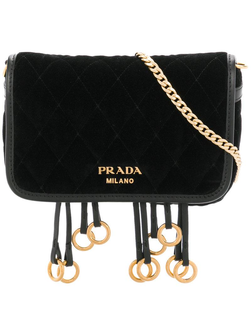 d58a9a9e39 Lyst - Prada Quilted Convertible Belt Bag in Black