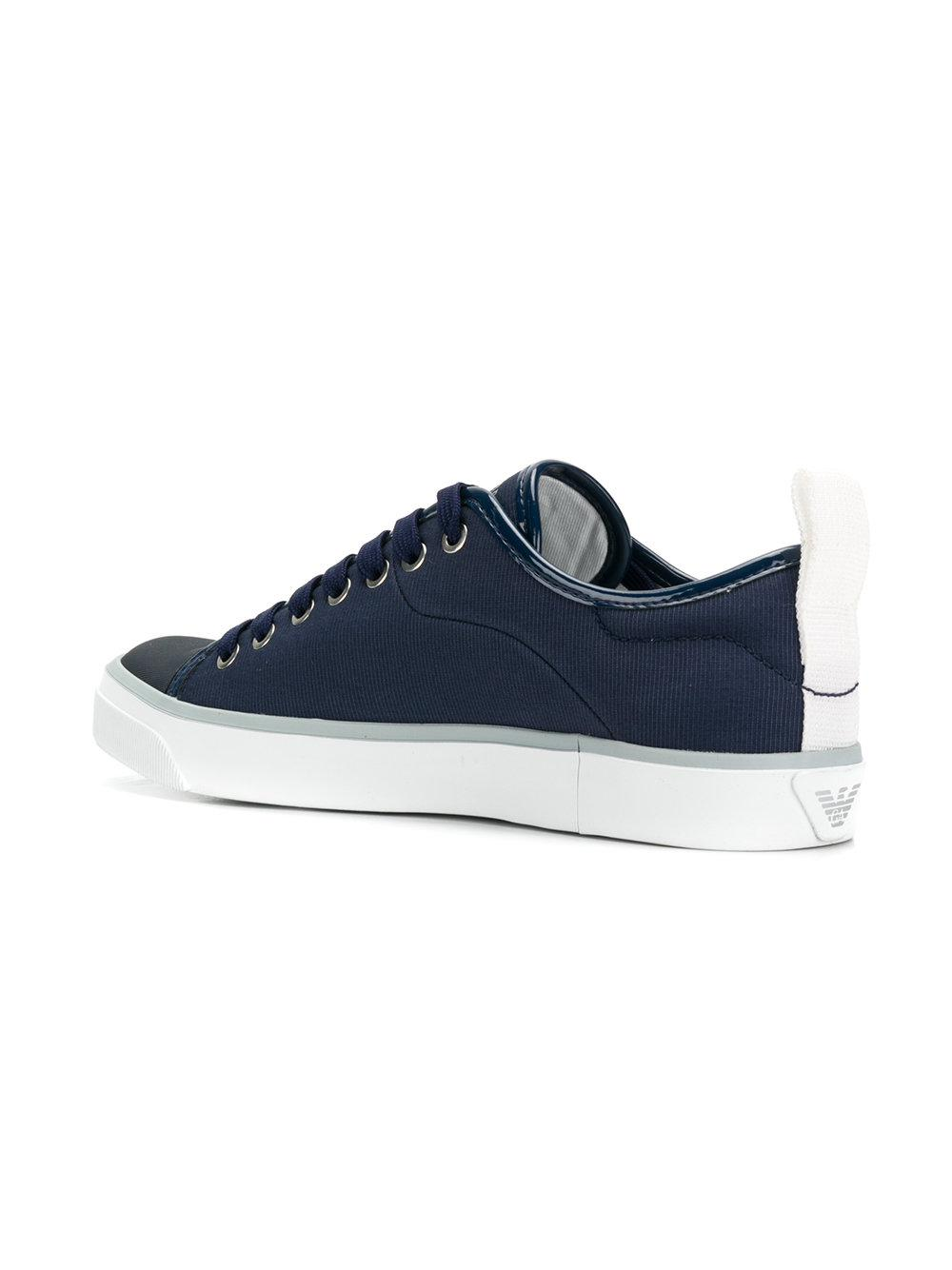 side logo printed sneakers - Blue Emporio Armani Wide Range Of For Sale 9Nbq9Hsg