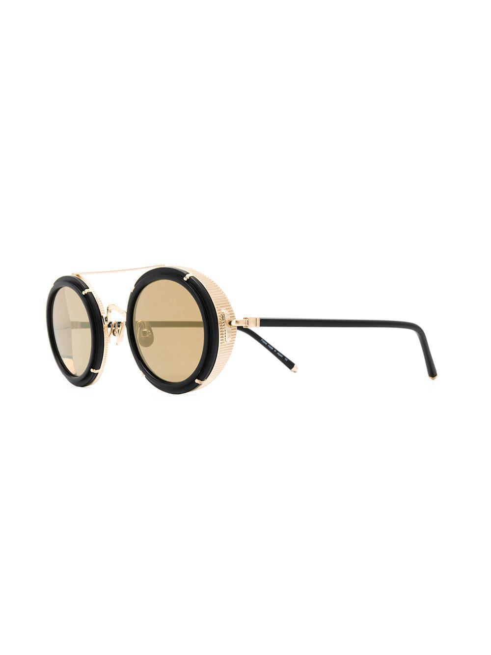 4561c87b51 Gafas de sol redondas Matsuda de color Marrón - Lyst