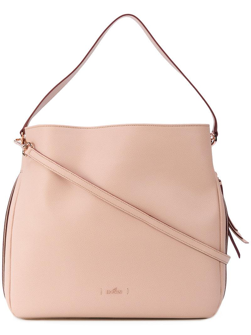 Lyst - Hogan Hobo Tote Bag in Pink 269a621a0da3b