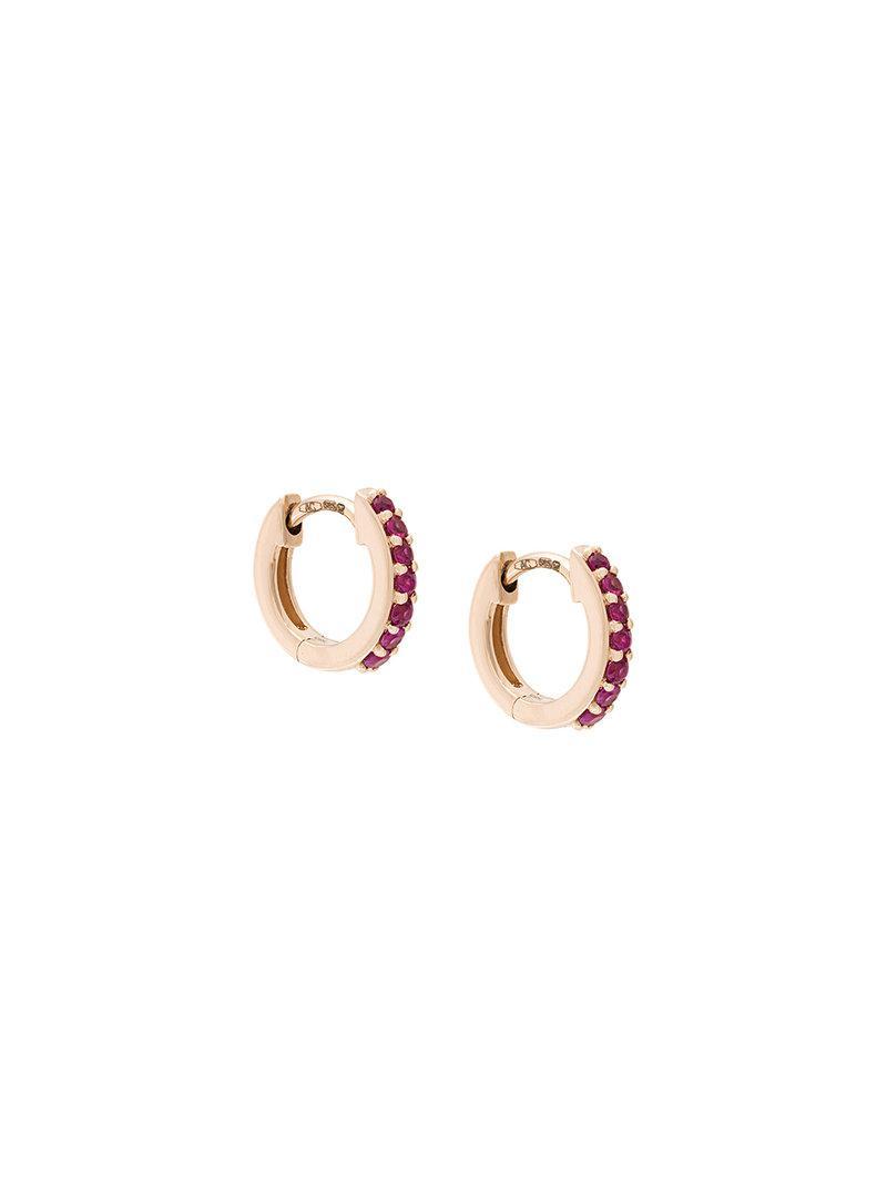 Astley Clarke mini halo hoop earrings - Red w1e0ck