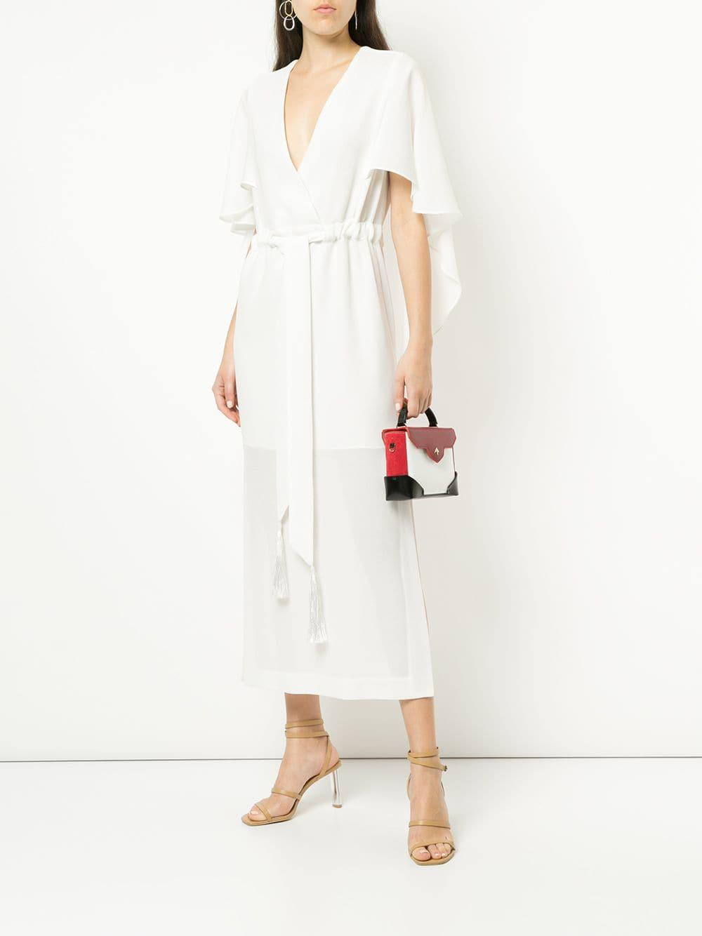 Lyst - Manning Cartell V-neck Cape Dress in White f513fec05